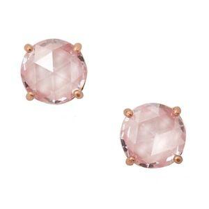 KATE SPADE • Blush Gumdrop Crystal Earrings